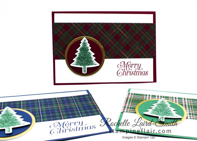 Create 3 cards with a simple layout for Christmas. Great for stamp a stacks