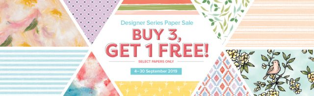 Buy 3 Get 1 Free Designer Series Paper Sale