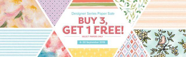 Buy 3 Get 1 Free Designer Series Paper Sale
