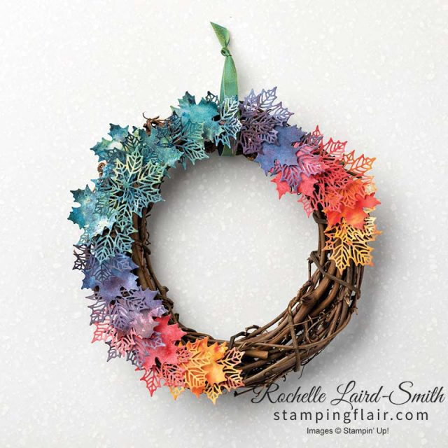 Home Decor wreath made out of DSP