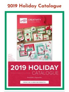 Get a copy of the 2019 Stampin Up Holiday Catalogue