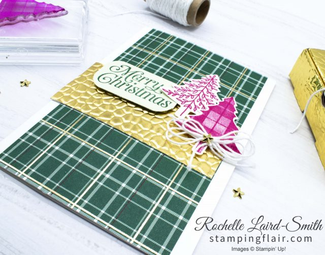 Stampin' Up! Perfectly Plaid card