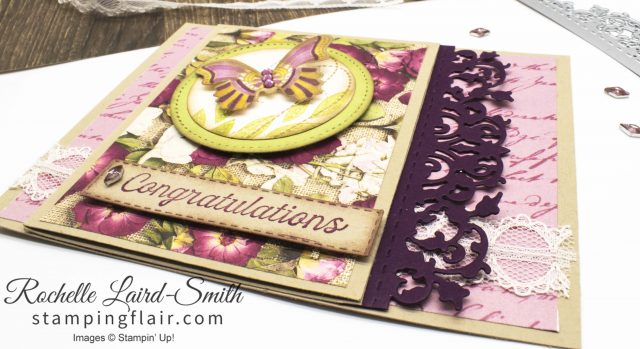 Pressed Petals DSP, Vintage wedding card