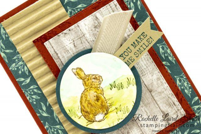 Watercoloured bunny, Handmade card Nature's Beauty