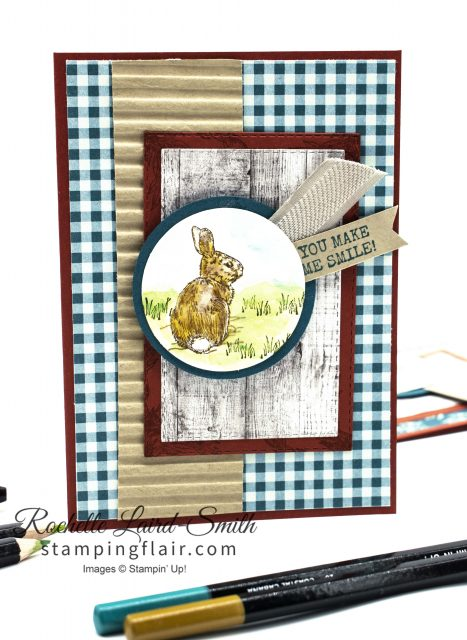 Watercoloured handmade encouragement card with Come to Gather Designer Series Paper
