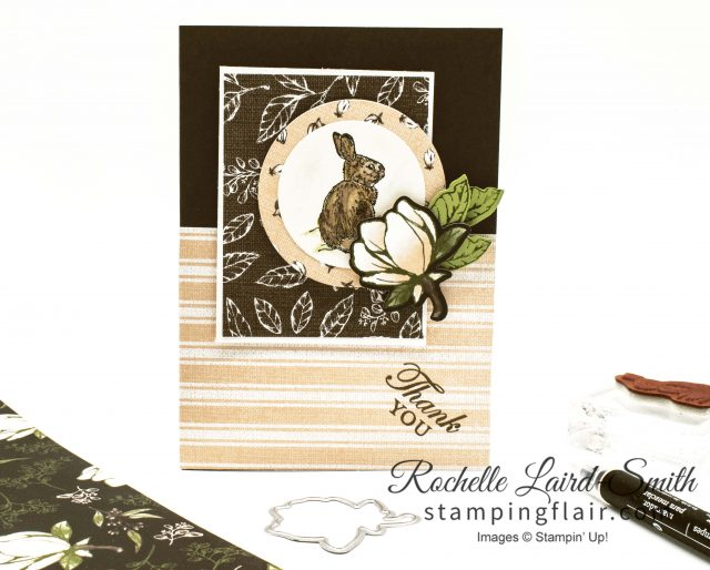 Bunny Handmade card with Stampin' Up! paper on sale