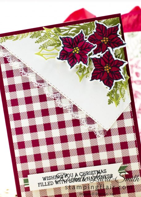 Handmade Poinsettia card