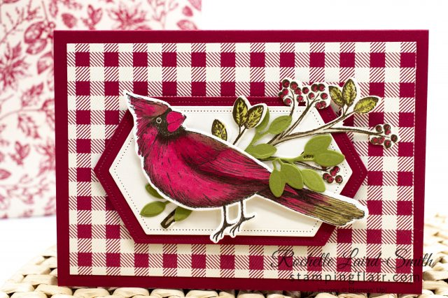 Cardinal coloured in with Stampin' Blends for a Christmas card