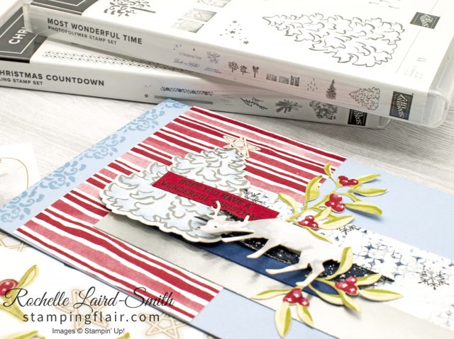 Most Wonderful Time Product Medley, Stampin' Up!, Christmas card in alternate colours