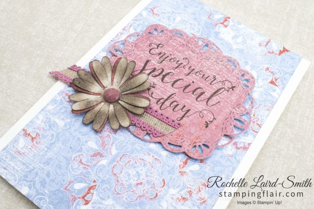 Quick card with patterned paper by Stampin' Up!, create it in minutes