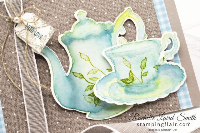 Teapot and Cup and saucer watercoloured with ink refills
