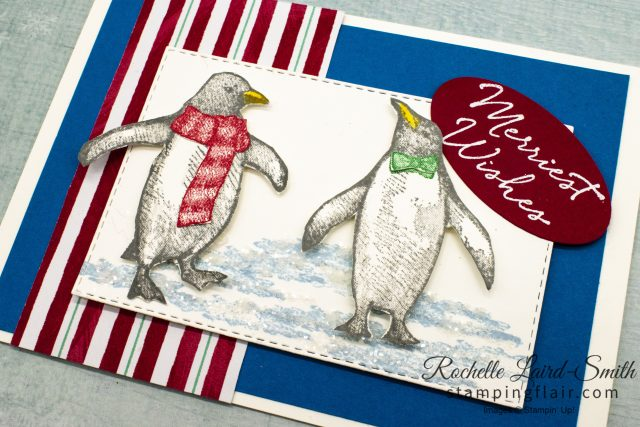 Penguin card with Ice for Christmas