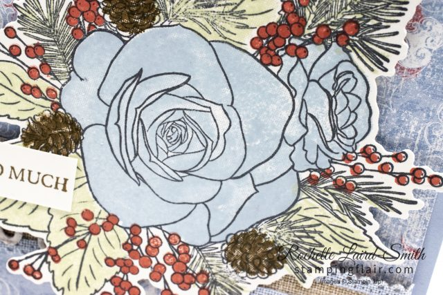 Christmas Rose, Stampin' Up!, Woven Threads DSP