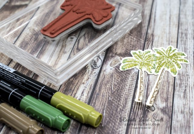 Stampin' Write Markers, Quick way to colour stamped images