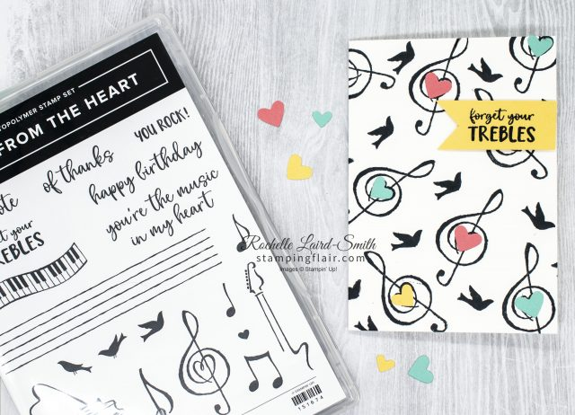 Forget your trebles handmade card with die cut hearts