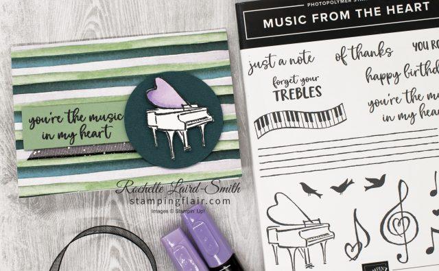 Grand piano card, Stampin' Up!