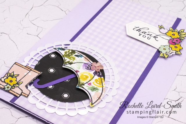 Thank you card, Stampin' Up!, kylie's International blog highlights