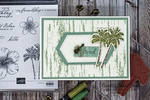 How to easily add colour to stamps, Tropical Oasis stamp set