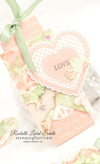 Birthday Bonanza cellophane bag with gift tag, Joy of sets February 2020 blog hop, Love is in the Air