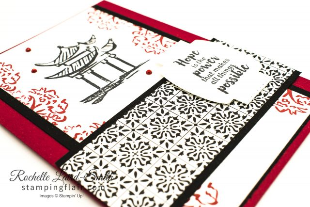Japanese Temple Handmade card with Power of Hope stamp set