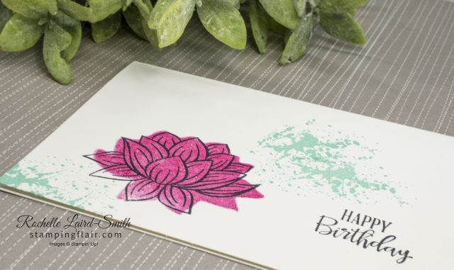 Beginner card using Lovely Lily pad SAB stamp set by Stampin' Up!