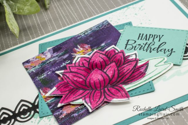 Add dimension to stamped lily with Stampin' Blends alcohol markers