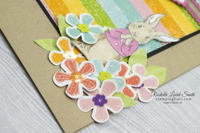 Quick Easter card with bunny coloured in with Stampin' Blends