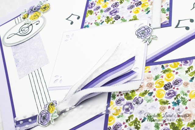 Scrapbook Layout using Music from the Heart stamp set