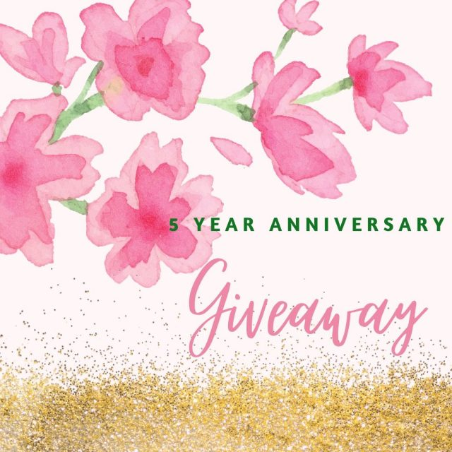 5 Year anniversary giveaway