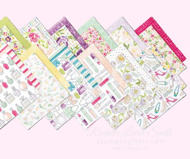 Patterned Papers with Fashion theme