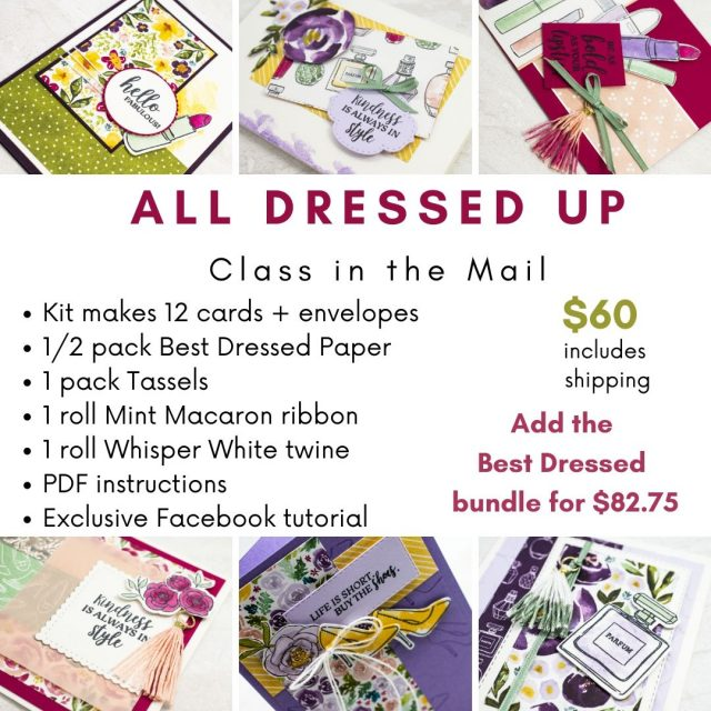 Online Class with All Dressed Up Stamps