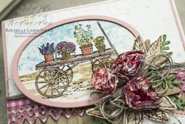 Stampin' Up! French Countryside stamp set coloured with Watercolours