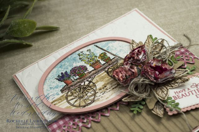 Add layers to greeting cards for extra interest using Stampin' Up! paper trimmer