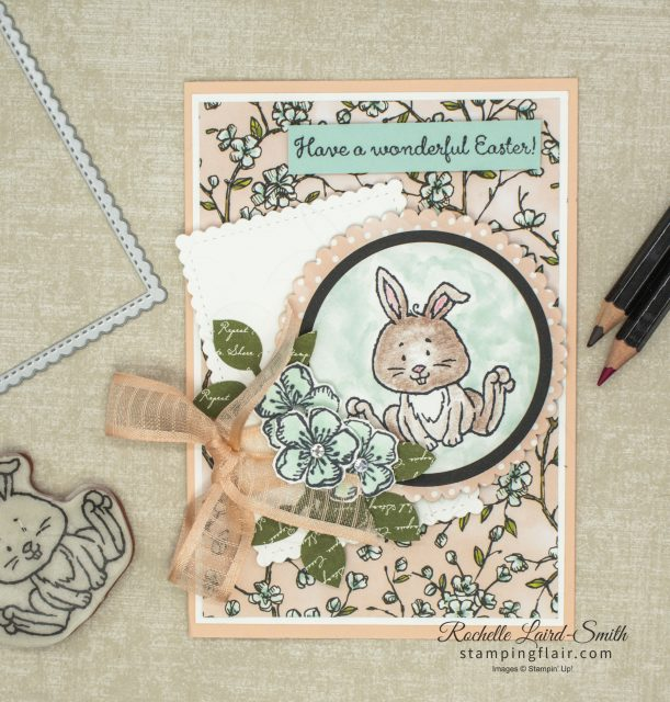 Stampin' Up! Easter card with Free as a Bird DSP