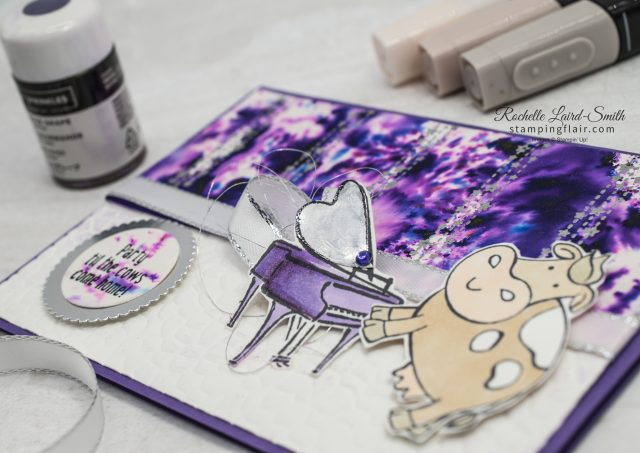 Music from the Heart, Grand piano card with pigment sprinkles