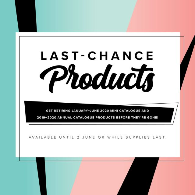 2020 Annual Catalogue Last Chance Products