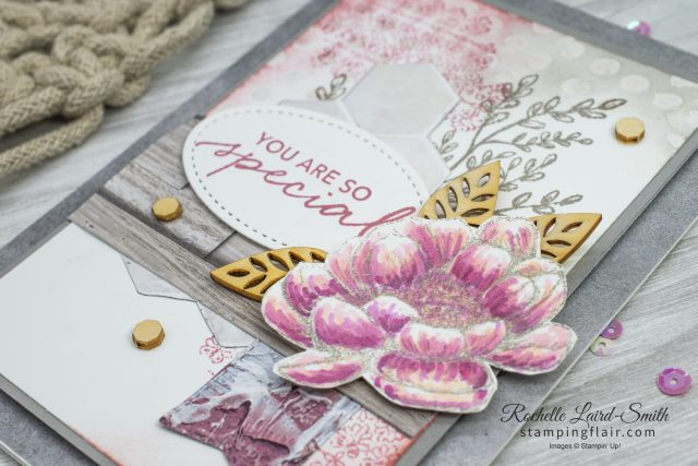 Tasteful Touches flower coloured with Stampin' Blends