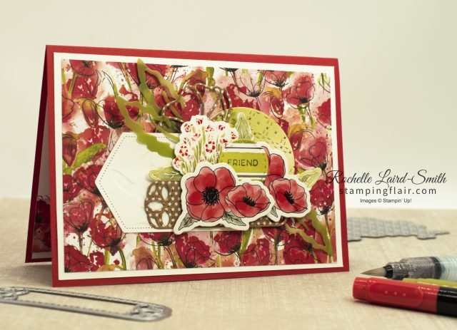 Handmade card with Stampin' Up! Peaceful Poppies suite