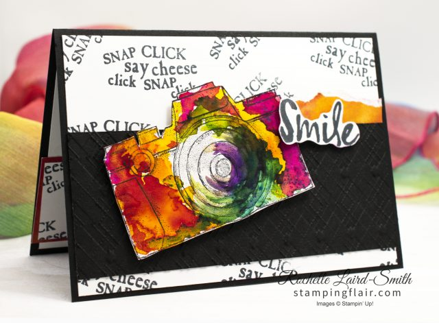 Handmade card with camera and Pigment Sprinkles Stampin' Up!