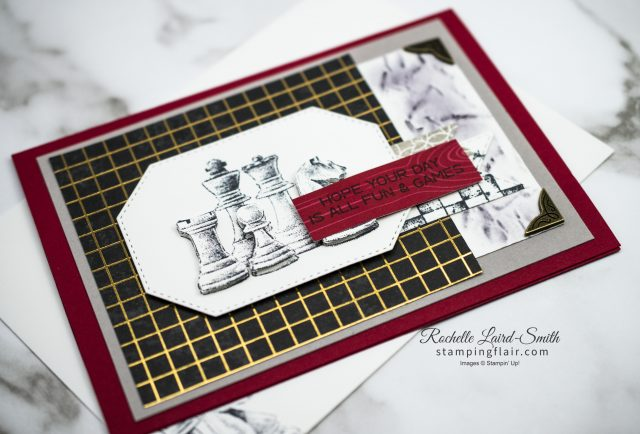 Card with chess theme for the Avid crafter with Game on Stamp set